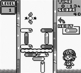 In game image of Puzzle Star Sweep on the Nintendo Game Boy.