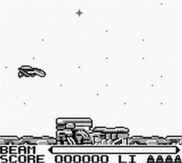 In game image of R-Type on the Nintendo Game Boy.