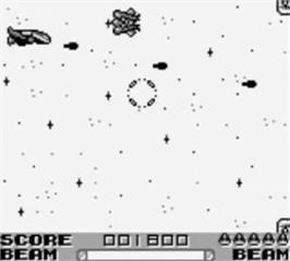 In game image of R-Type II on the Nintendo Game Boy.