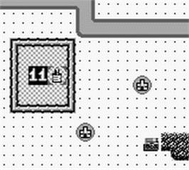 In game image of Rampart on the Nintendo Game Boy.