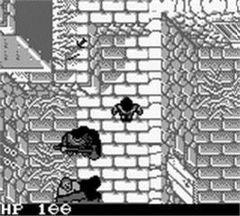 In game image of Robin Hood: Prince of Thieves on the Nintendo Game Boy.