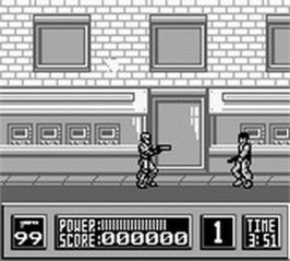 In game image of Robocop on the Nintendo Game Boy.