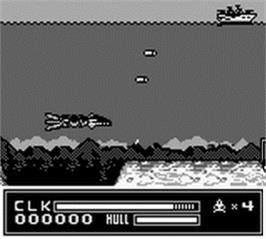 In game image of SeaQuest DSV on the Nintendo Game Boy.