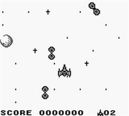 In game image of Solar Striker on the Nintendo Game Boy.