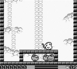 In game image of Spanky's Quest on the Nintendo Game Boy.