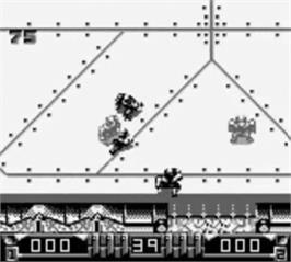 In game image of Speedball 2: Brutal Deluxe on the Nintendo Game Boy.