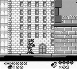 In game image of Spirou on the Nintendo Game Boy.