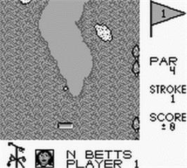 In game image of Sports Illustrated - Golf Classic on the Nintendo Game Boy.