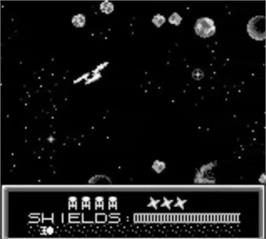 In game image of Star Trek 25th Anniversary on the Nintendo Game Boy.
