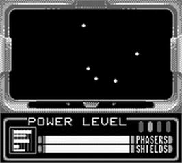 In game image of Star Trek Generations - Beyond the Nexus on the Nintendo Game Boy.