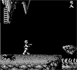 In game image of Star Wars: The Empire Strikes Back on the Nintendo Game Boy.