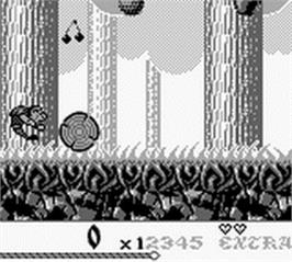 In game image of Super Hunchback on the Nintendo Game Boy.