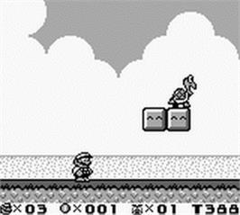 In game image of Super Mario Land 2: 6 Golden Coins on the Nintendo Game Boy.