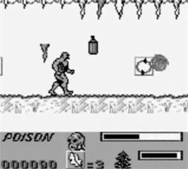 In game image of Swamp Thing on the Nintendo Game Boy.