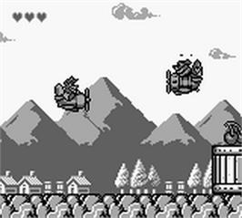 In game image of TaleSpin on the Nintendo Game Boy.