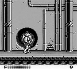 In game image of Teenage Mutant Ninja Turtles II:  Back from the Sewers on the Nintendo Game Boy.