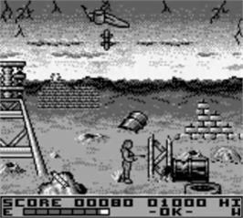 In game image of Terminator 2 - Judgment Day on the Nintendo Game Boy.