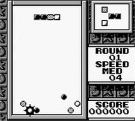 In game image of Tetris 2 on the Nintendo Game Boy.
