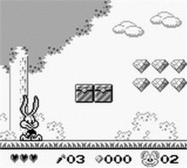 In game image of Tiny Toon Adventures: Wacky Sports Challenge on the Nintendo Game Boy.