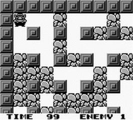 In game image of Wario Blast Featuring Bomberman on the Nintendo Game Boy.