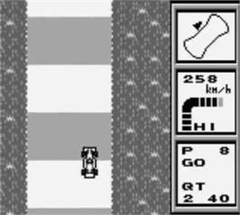 In game image of World Circuit Series on the Nintendo Game Boy.