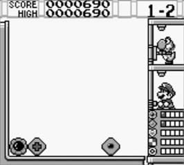 In game image of Yoshi's Cookie on the Nintendo Game Boy.