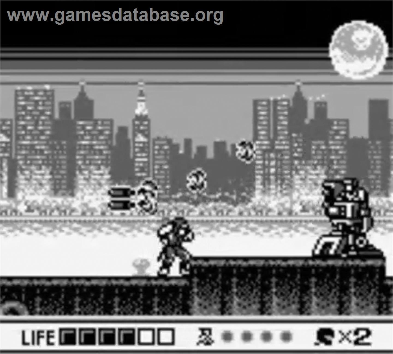 Ninja Gaiden Shadow Nintendo Game Boy Artwork In Game