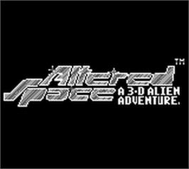 Title screen of Altered Space: A 3-D Alien Adventure on the Nintendo Game Boy.