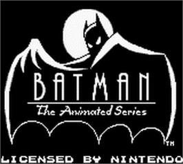 Title screen of Batman: The Animated Series on the Nintendo Game Boy.