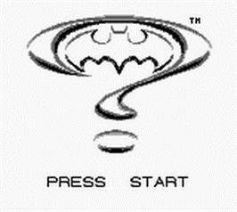 Title screen of Batman Forever on the Nintendo Game Boy.