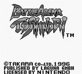 Title screen of Battle Arena Toshinden on the Nintendo Game Boy.