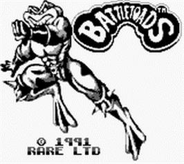 Title screen of Battletoads on the Nintendo Game Boy.