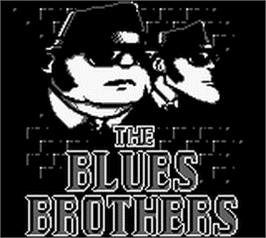 Title screen of Blues Brothers on the Nintendo Game Boy.