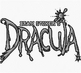 Title screen of Bram Stoker's Dracula on the Nintendo Game Boy.