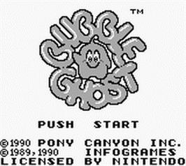 Title screen of Bubble Ghost on the Nintendo Game Boy.