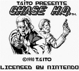 Title screen of Chase H.Q. on the Nintendo Game Boy.