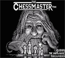 Title screen of Chessmaster on the Nintendo Game Boy.