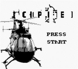 Title screen of Choplifter 2 on the Nintendo Game Boy.