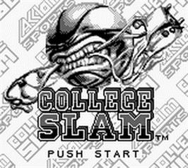 Title screen of College Slam on the Nintendo Game Boy.