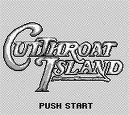 Title screen of Cutthroat Island on the Nintendo Game Boy.
