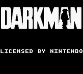 Title screen of Darkman on the Nintendo Game Boy.