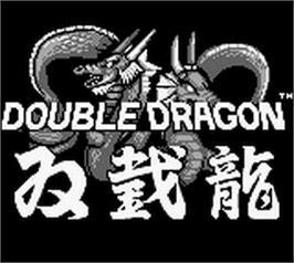 Title screen of Double Dragon on the Nintendo Game Boy.