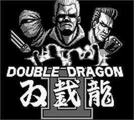 Title screen of Double Dragon II - The Revenge on the Nintendo Game Boy.