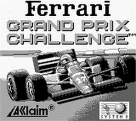 Title screen of Ferrari - Grand Prix Challenge on the Nintendo Game Boy.