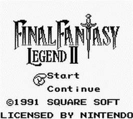 Title screen of Final Fantasy Legend 2 on the Nintendo Game Boy.