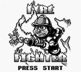 Title screen of Fire Fighter on the Nintendo Game Boy.