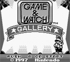 Title screen of Game & Watch Gallery on the Nintendo Game Boy.