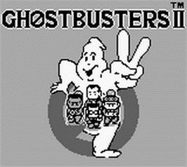 Title screen of Ghostbusters II on the Nintendo Game Boy.
