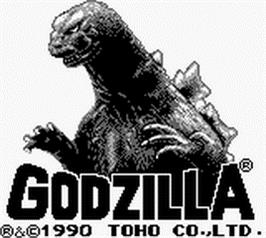 Title screen of Godzilla on the Nintendo Game Boy.