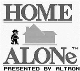 Title screen of Home Alone on the Nintendo Game Boy.